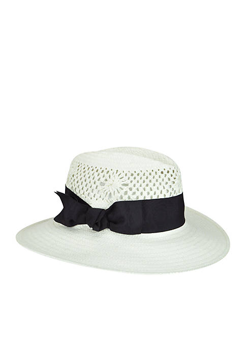 Betmar Hats Monaco Vented Straw Medium Brim Hat