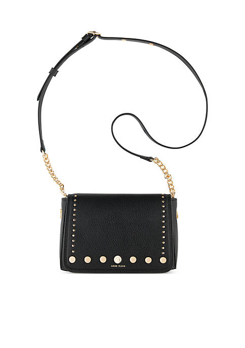 Anne Klein Toggle Chain Studded Crossbody