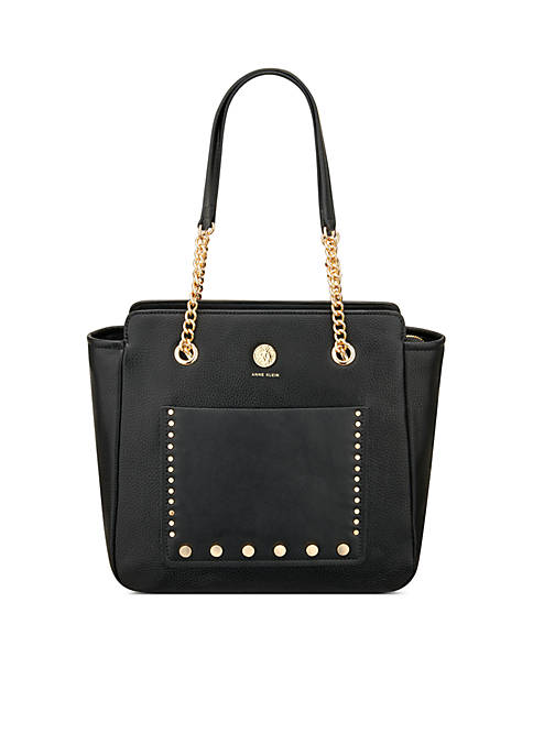 Anne Klein Toggle Chain Studded Shopper
