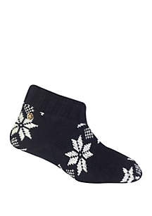 Allover Snowflake Bootie Slippers
