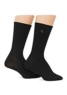Cable Supersoft Trouser Socks - 2 Pack