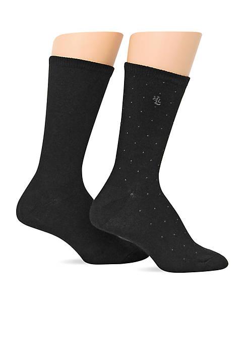 Lauren Ralph Lauren Pindot Supersoft Trouser Socks
