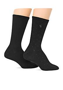 Pindot Supersoft Trouser Socks - 2 Pack