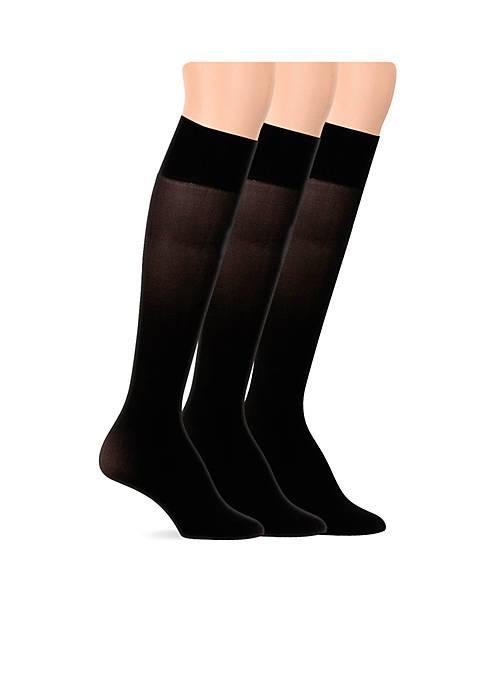Opaque Microfiber Trouser Socks - 3 Pack