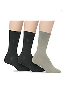 Flat Knit Trouser Socks - 3 Pack