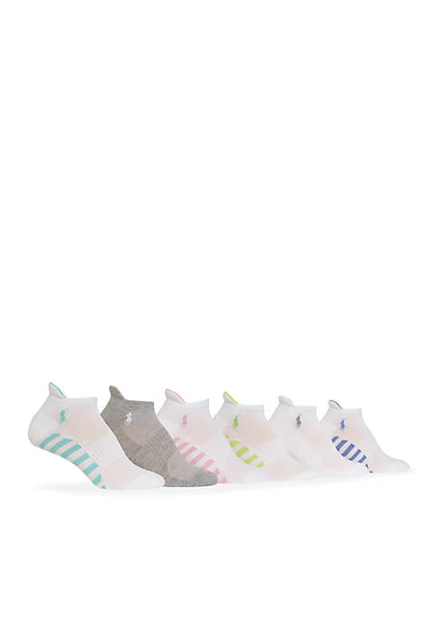 Striped Sole Assorted Low Cut w/ Tab 6-Pack