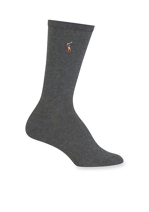 Polo Ralph Lauren Womens Flat Knit Crew Socks