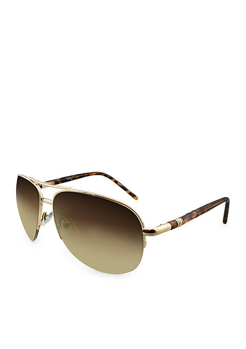 Nine West Half Rim-less Sunglasses
