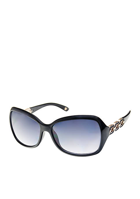 Nine West Plastic Large Square Sunglasses