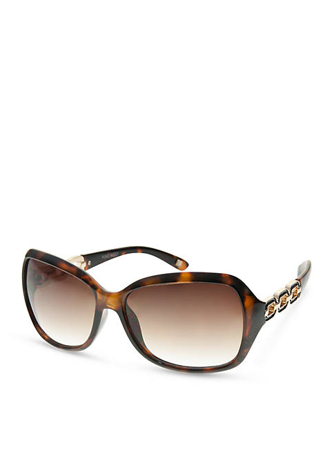Nine West Metal Chain Sunglasses