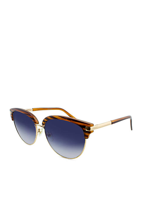 Nine West Combo Club Round Sunglasses