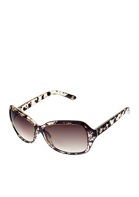 Nine West Large Rectangle Wrap Sunglasses