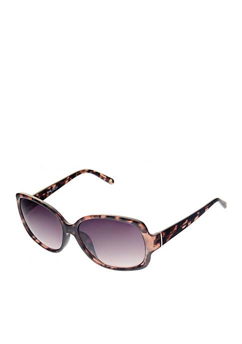 Nine West Large Wrapped Square Sunglasses