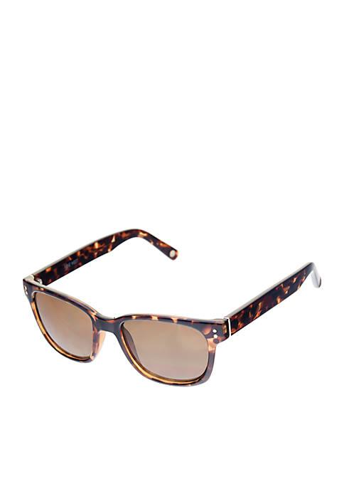 Nine West Plastic Small Prep Square Sunglasses