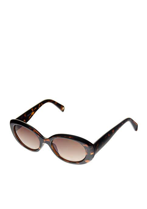 Nine West Chunky Oval Sunglasses
