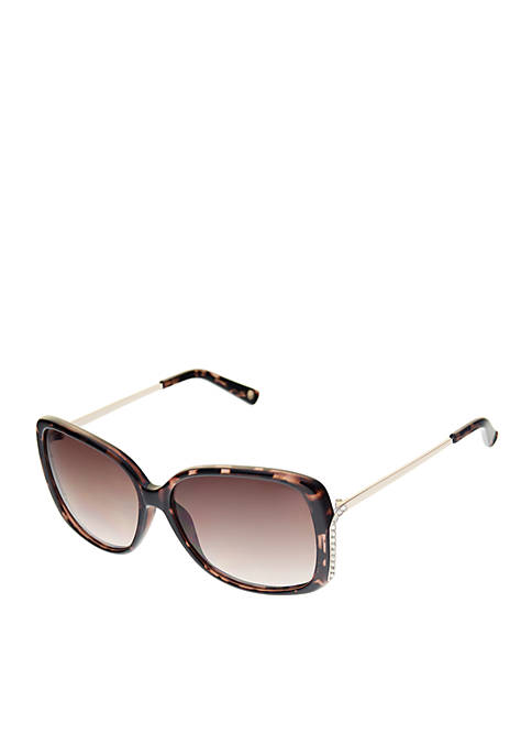 Nine West Large Square with Stones Sunglasses
