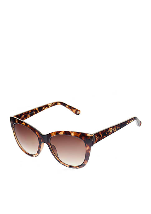 Nine West Plastic Large Kitten Sunglasses