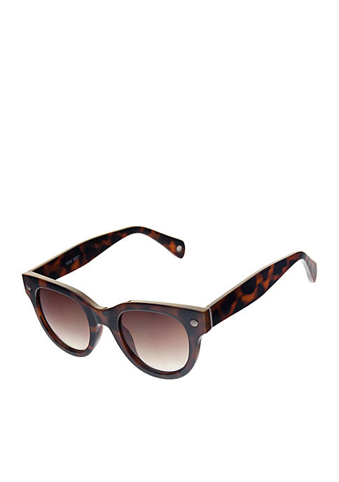 Nine West Round Cat Eye Sunglasses