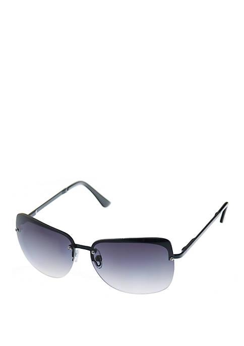 Metal Medium Semi Rimless Sunglasses