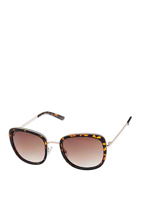 Nine West Combo Medium Rounded Square Sunglasses