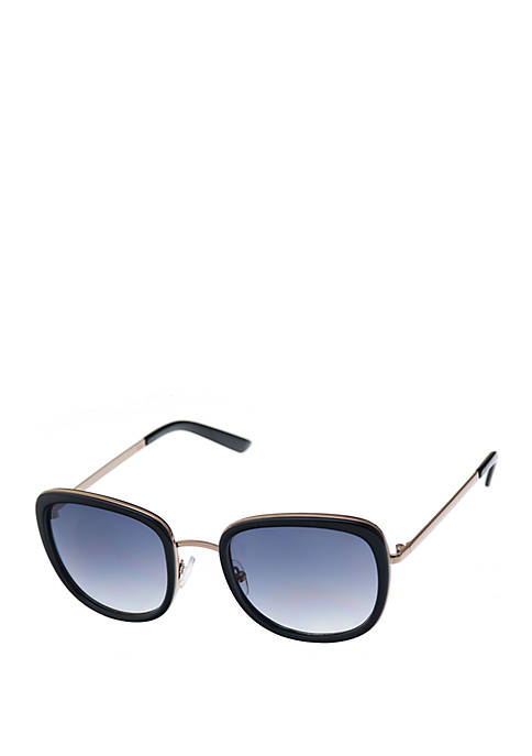 Nine West Combo Medium Rounded Square Sunglasses