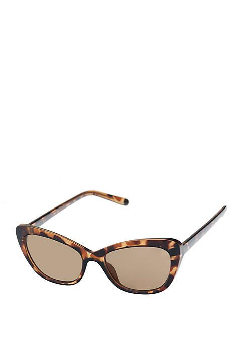 Nine West Plastic Small Soft Cat Eye Sunglasses