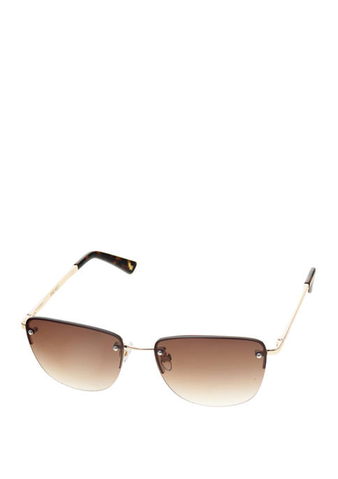 Metal Small Rimless Sunglasses