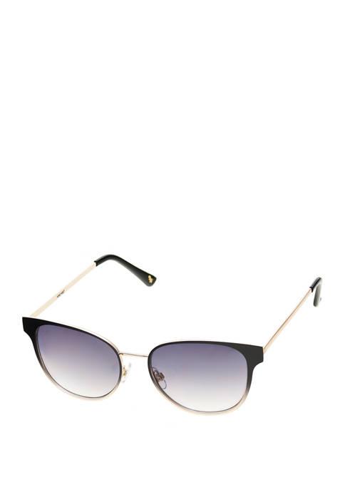 Small Metal Modified Round Cat Eye Sunglasses
