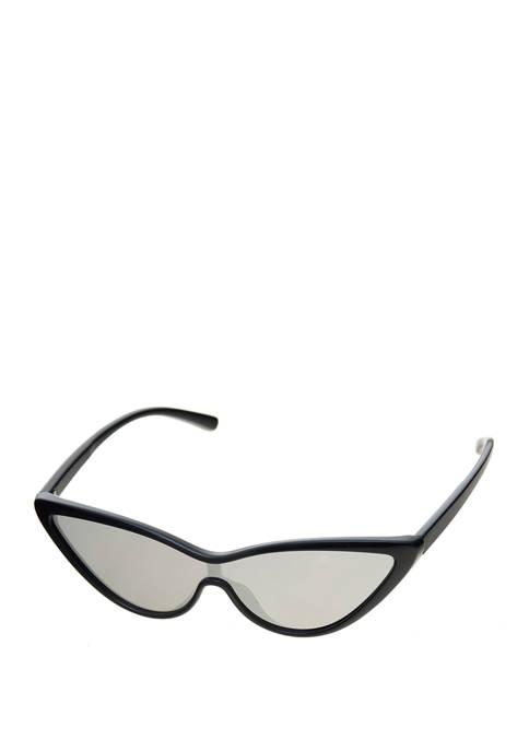 Super Plastic Cateye Black Sunglasses