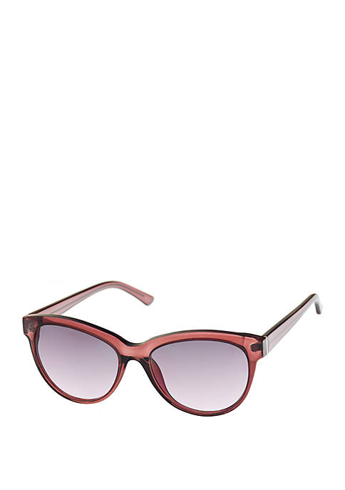 Nine West Plastic Cat Eye Sunglasses