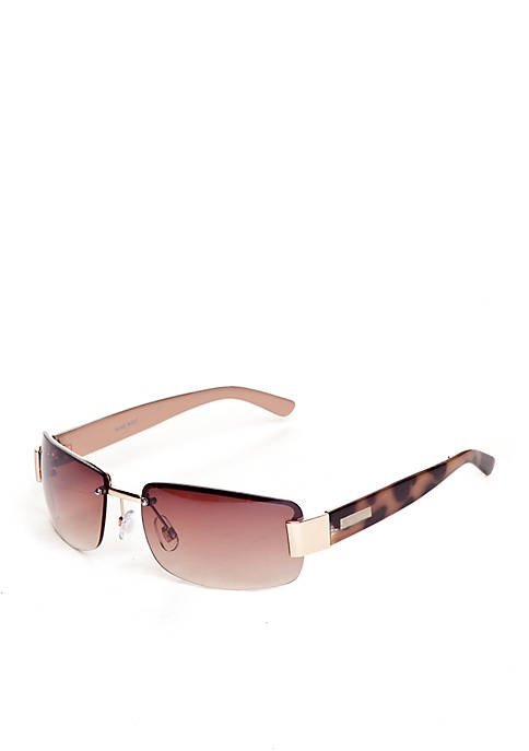 Nine West Metal Semi Rimless Sunglasses