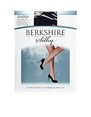 32ac43f0a73 ... Berkshire Hosiery Queen Silky Control Top Pantyhose with Reinforced Toe