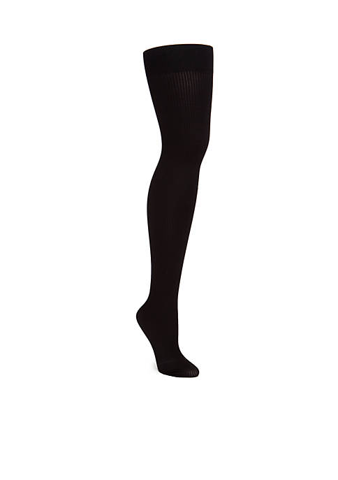 Easy On Plus Size Rib Cooling Tights