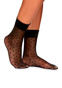 Sheer Dot Anklet Sock
