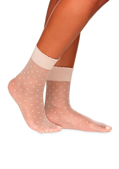 Berkshire Hosiery Sheer Dot Anklets