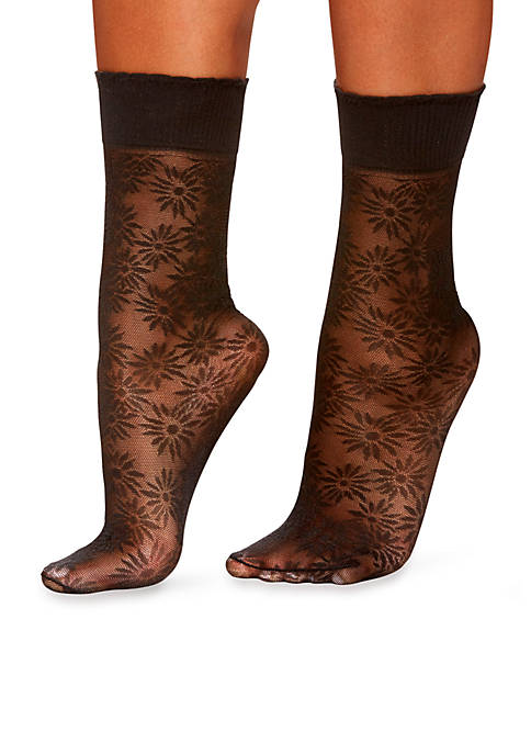 Berkshire Hosiery Plus Daisy Floral Anklets