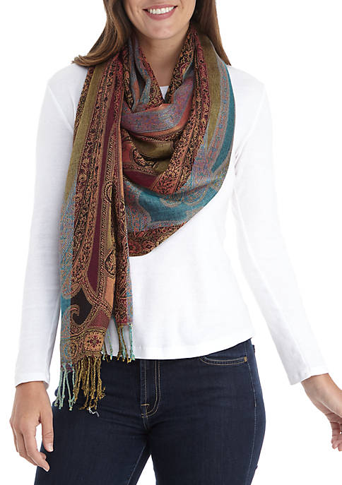 Allover Paisley Scarf