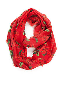 new directions christmas poinsettia infinity scarf