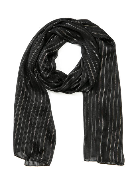New Directions® Lurex Stripe Solid Wrap