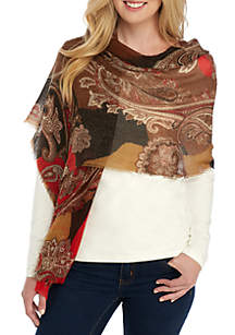 Opulent Paisley Oblong Scarf