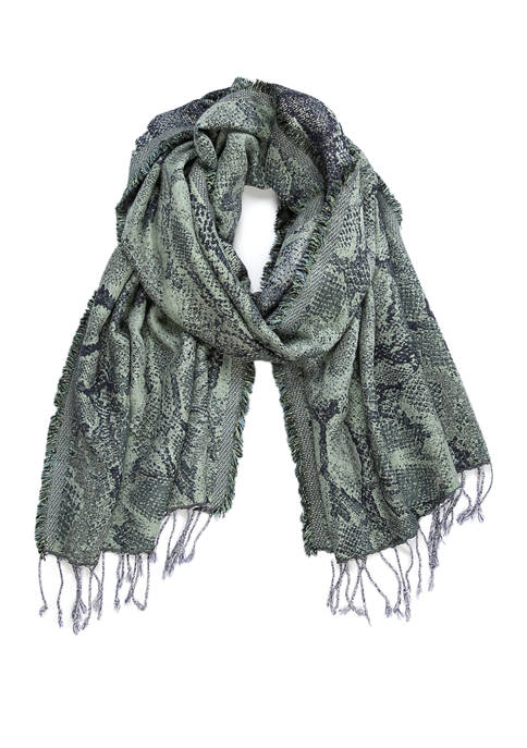 New Directions® Snake Jacquard Wrap