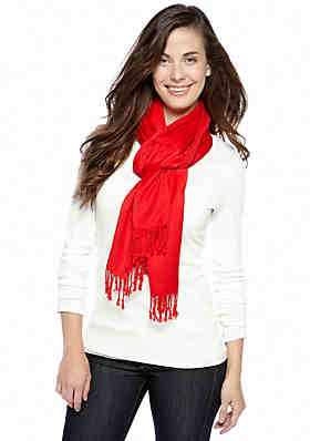 f70a4f217e044 New Directions® Satin Pashmina Scarf ...