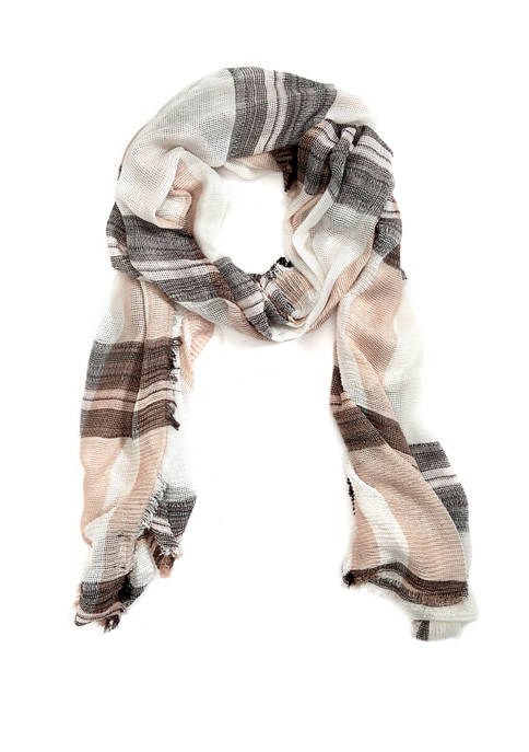 Accessory Street Wrapped in Plaid Wrap Scarf