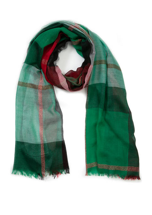 New Directions® Color Block Plaid Christmas Wrap