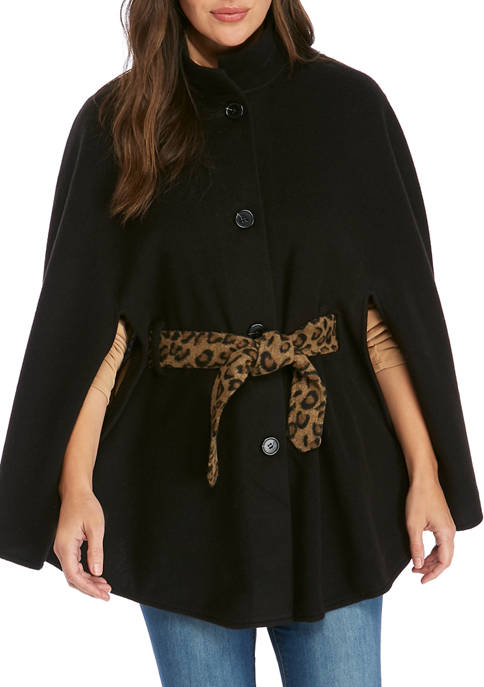 New Directions® Solid Cape Leopard Belt Toggle Topper