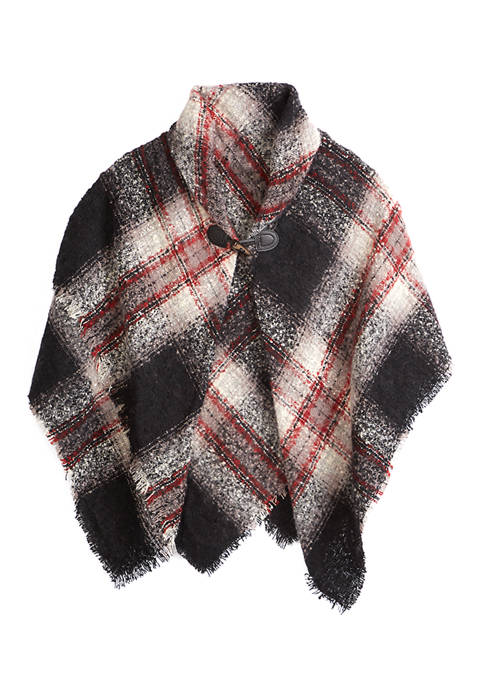 Accessory Street Ombre Plaid Toggle Wrap