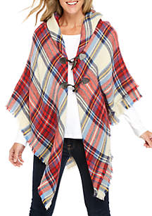 College Plaid Jacket With Lurex Toggles
