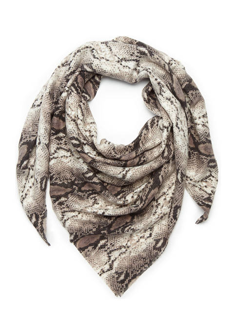 Accessory Street Classic Snake Triangle Wrap