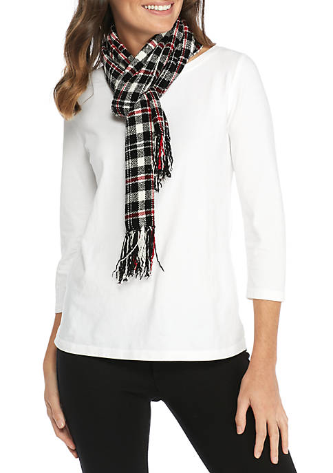 Collection XIIX Winchester Plaid Chenille Scarf