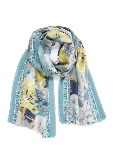 Accessory Street Rosy Borders Wrap